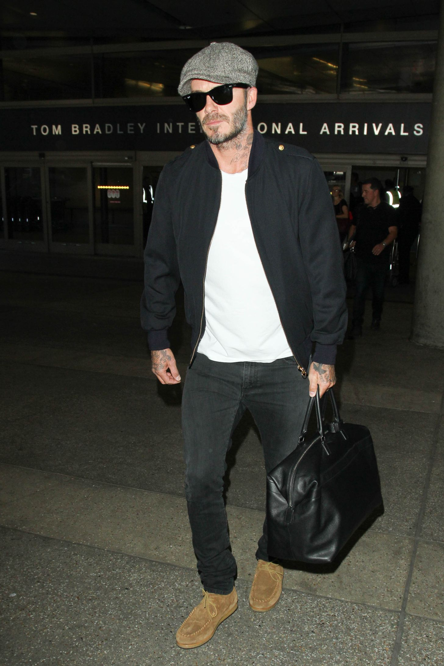 David Beckham la aeroport