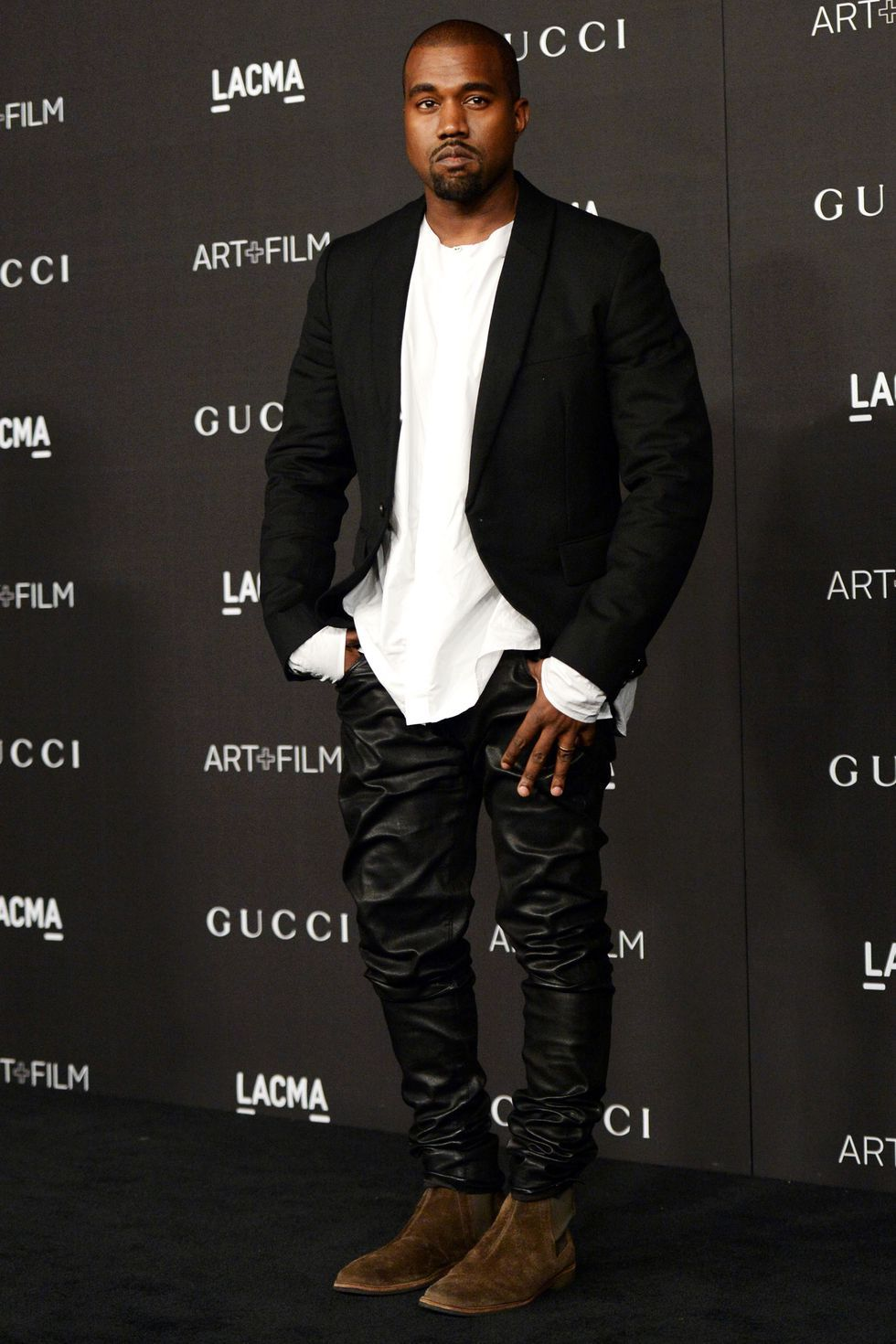 Kanye West all black